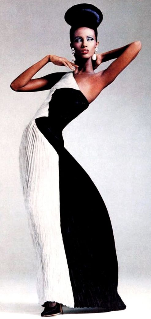 It looks good on Iman but would it look good on me? Doubtful. Iman in Halston