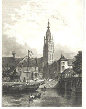 De haven van Breda zoals deze er vroeger uitzag.