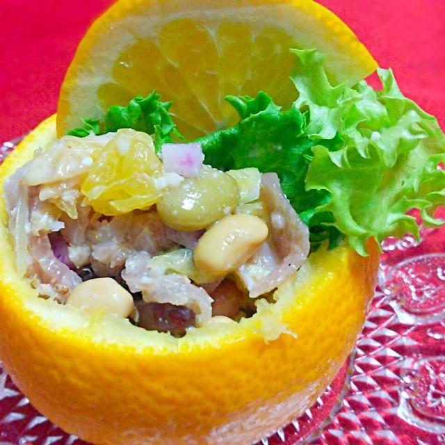 沢山貰ったはっさくサンメニュー♡ - 12件のもぐもぐ - 八朔のサラダ by shiroiusasan