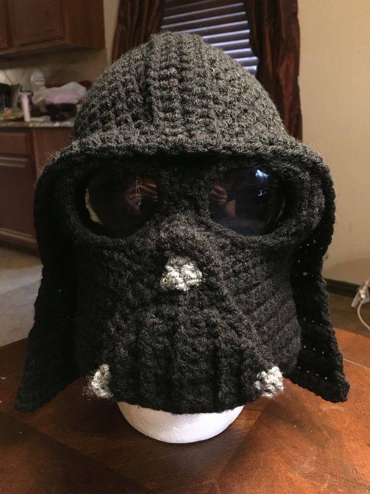 Knitting Pattern Darth Vader Hat : No pattern crochet darth vader hat :D Crochet Pinterest Darth vader, Ha...