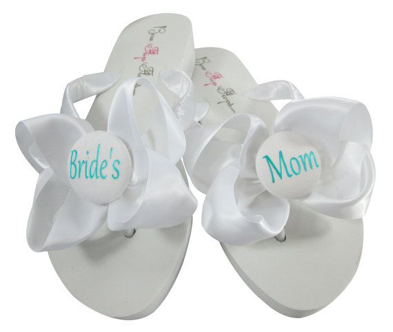 Mamá de la novia turquesa Flip Flops novio por BridalFlipFlops