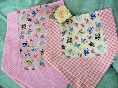 Carol Wilson Tea Cup Fabric Cream Tea Cups 13x42 Reversible Table Runner
