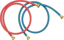 Whirlpool - 5' Commercial-Grade Washer Hose (2-Pack)