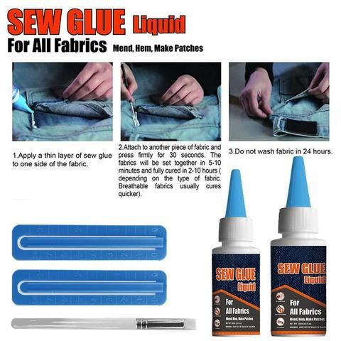 All Fabric Sew Glue Kit Nacyone Telas Costura Pegamento