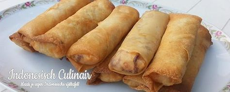 Loempia Surabaya - Loempia's met kip, garnalen en tauge - Egg rolls with chicken, shrimp and bean sprouts