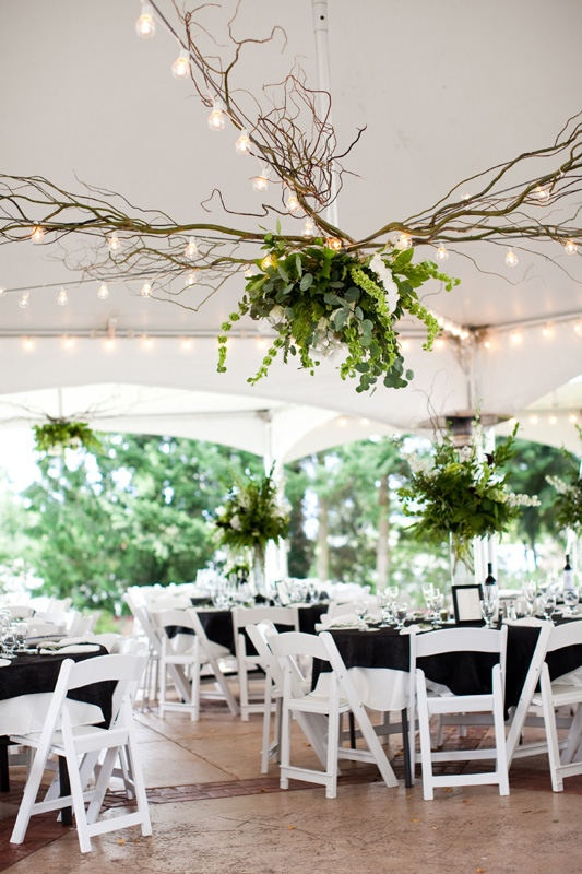 a beautiful alternative to draping a ceiling, especially if your ceiling is too low to be draped.