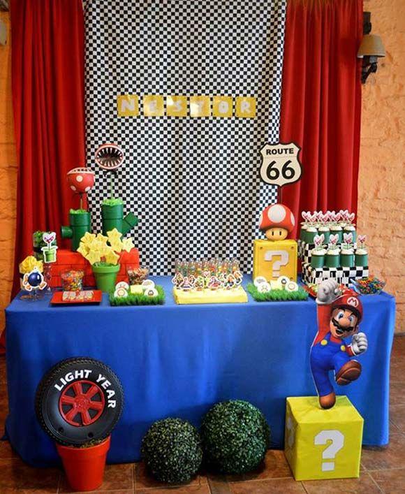 decoracin fiesta de mario bros kart para cumpleaos
