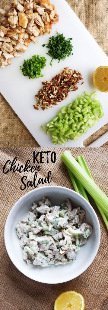 Ou Low Carb Chicken Salad has the perfect chicken to creaminess ratio with crunch from celery and pecans! (Keto Recipes)