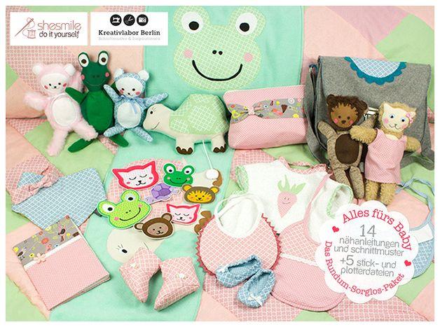 "Großes Set Nähanleitungen ""Alles fürs Baby"" / diy sewing instructions: huge set with everything a baby needs by shesmile via DaWanda.com"