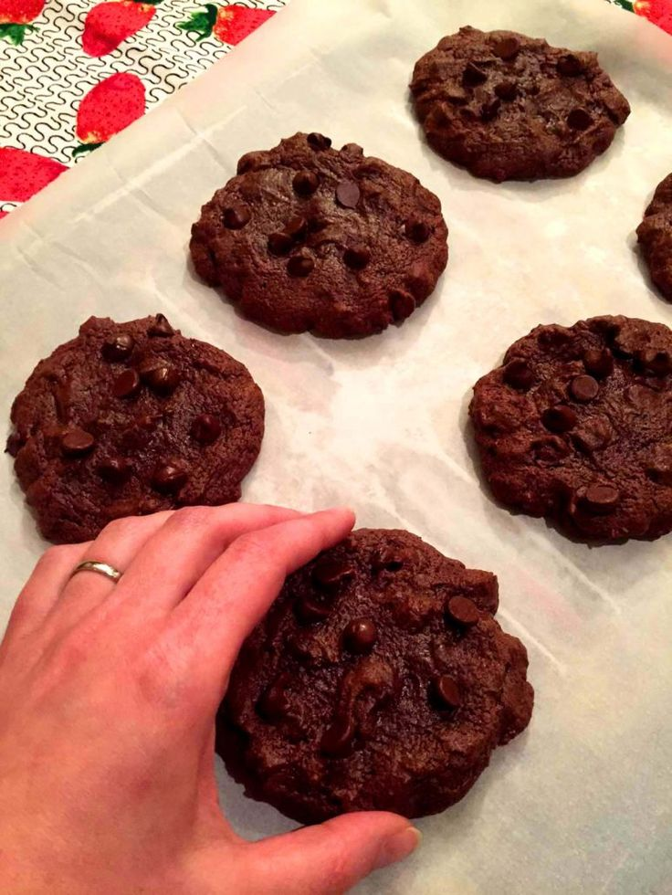 Soft Chewy Double Chocolate Chip Cookies Recipe
