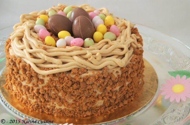 Karine Cuisine: Le nid de Pâques aux spéculoos