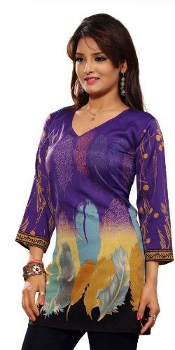 #Purple #Designer Tunic  For More Kurtis/Tunic Check this page now :-http://www.ethnicwholesaler.com/kurtis-tunics