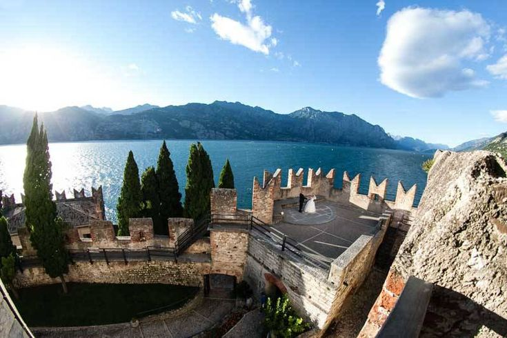 A fabulous view from the terrace of Malcesine Castle - Location Malcesine Castle by Romantic Weddings on Lake Garda | Wedding planners for the most romantic Lake Garda weddings in Italy