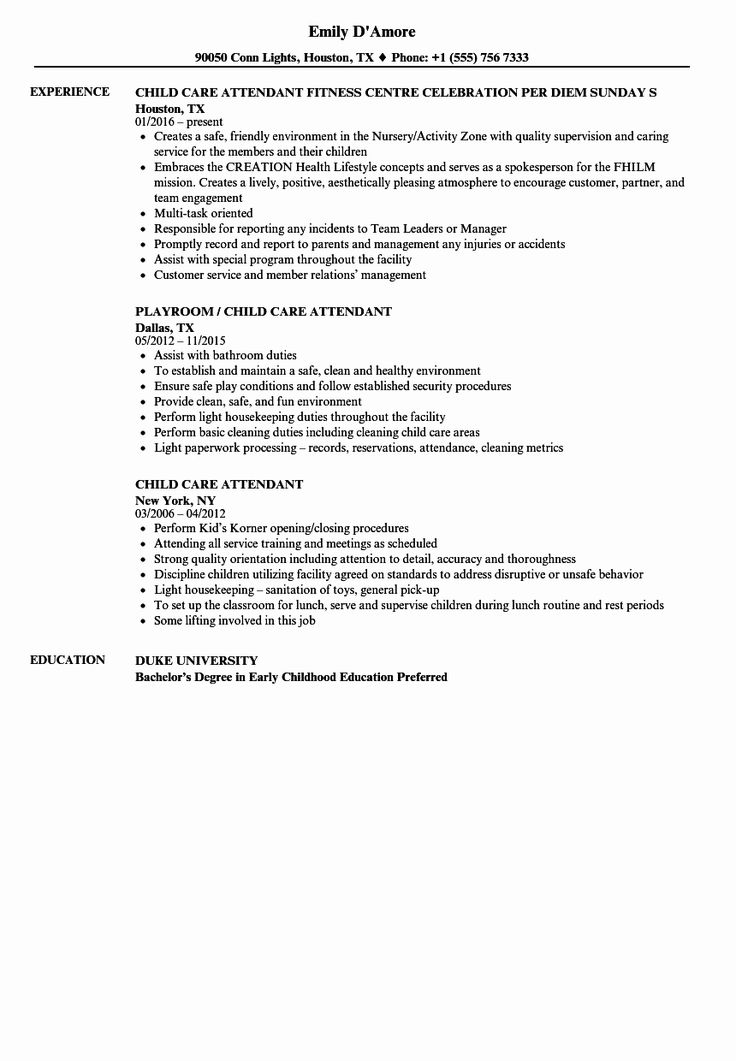 25 Child Care Resume Duties Care Jobs Child Life Specialist