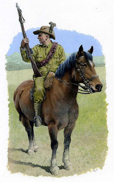 Scottish Horse - Second Boer war 1899 - 1902 (A unit made up of Australians, South Africans, Scottish and even some English of Scottish desent). Their record was pretty much second to none for a mounted unit.