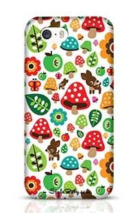 Musroom Autumn Deer And Apple Pattern Apple iPhone 5S Phone Case