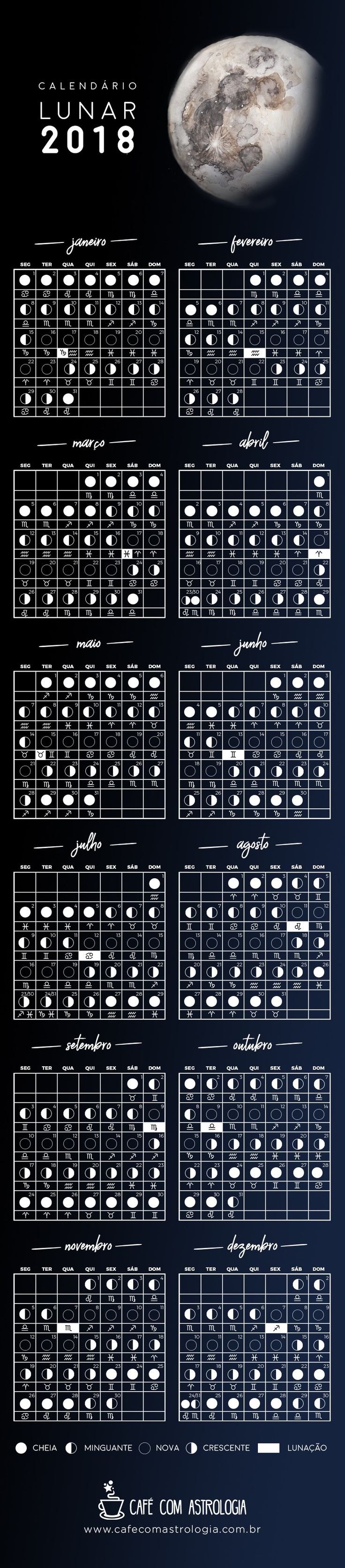 Calendário Lunar - 2018