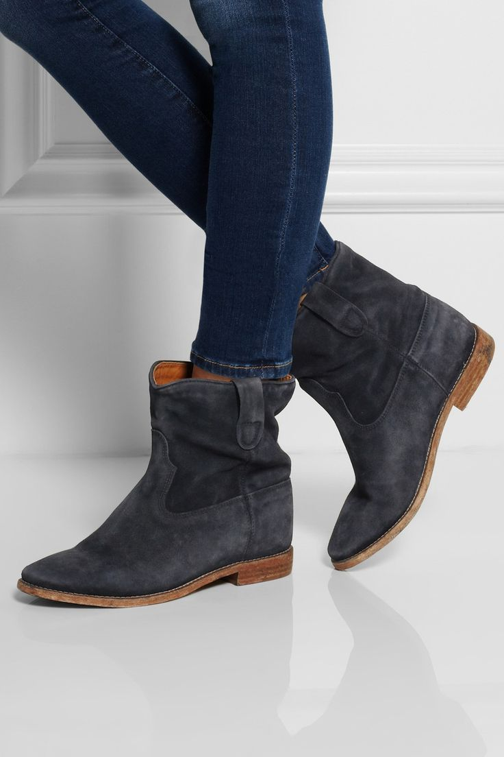 Isabel Marant Embellised Suede Booties