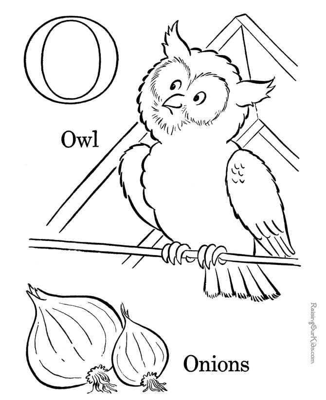 Free Alphabet coloring sheets - Letter O