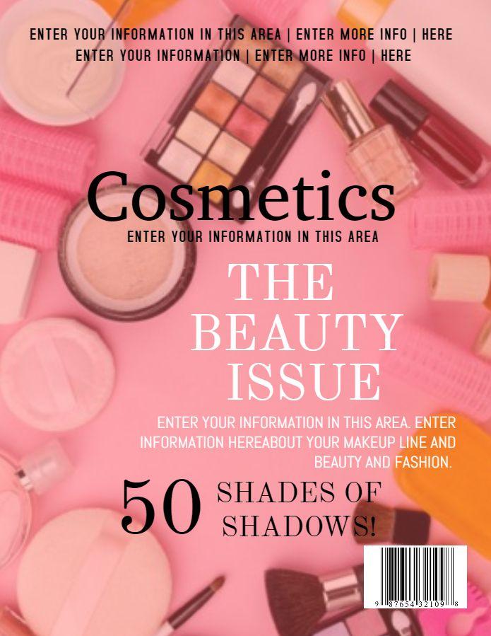 Beauty Fashion Magazine Cover Design Social Media Template Magazine Cover Template Beauty Fashion Magazine Cover