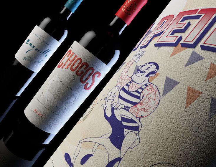 ilustraciones y diseño para vino