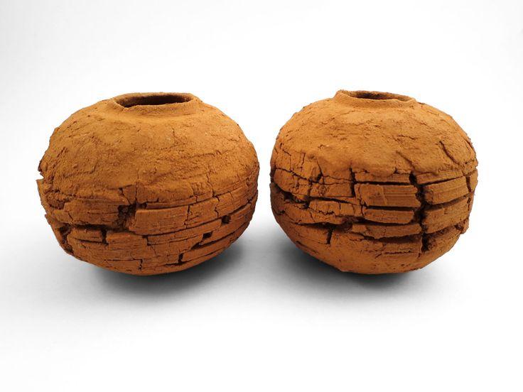 Scorched Earth: Whispering Globes from the Wild Clay Series - Ildikó Károlyi #ceramics #raku #design