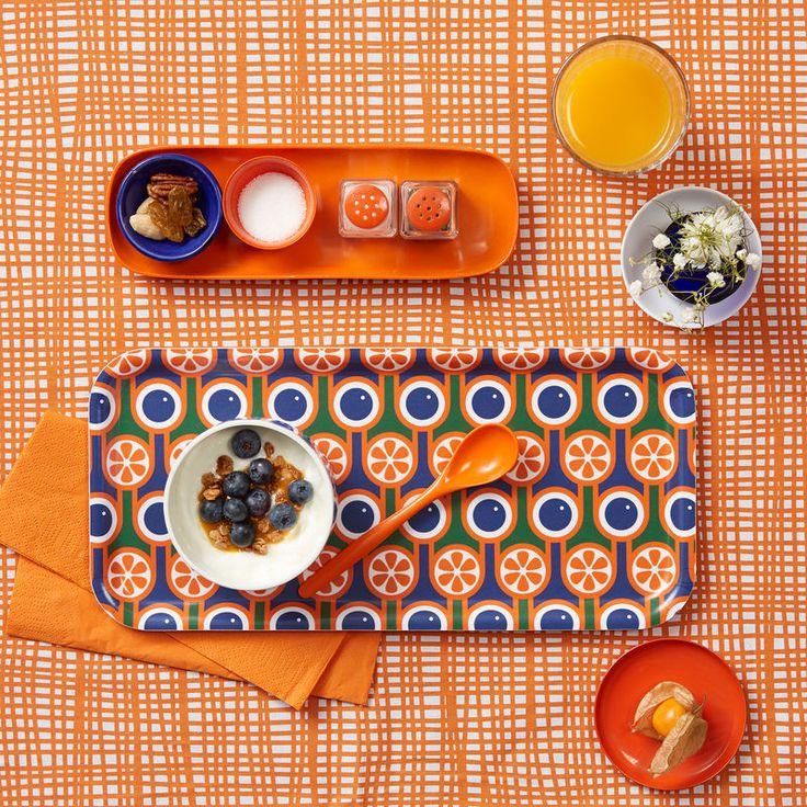 Hokolo Birch Tray - Blueberries and Oranges