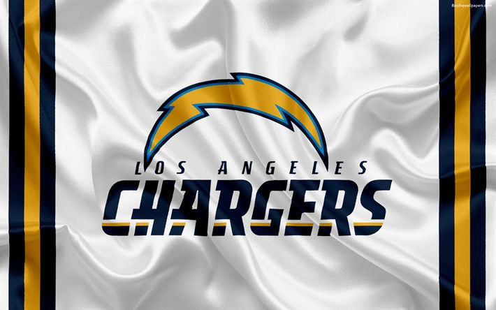 Download wallpapers Los Angeles Chargers, American football, logo, emblem, National Football League, NFL, Los Angeles, California, USA #NFLFootballBoys