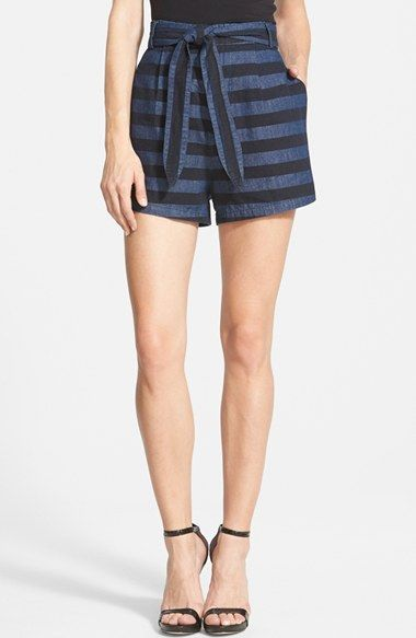 Finders Keepers the Label 'Go All Night' Stripe Shorts