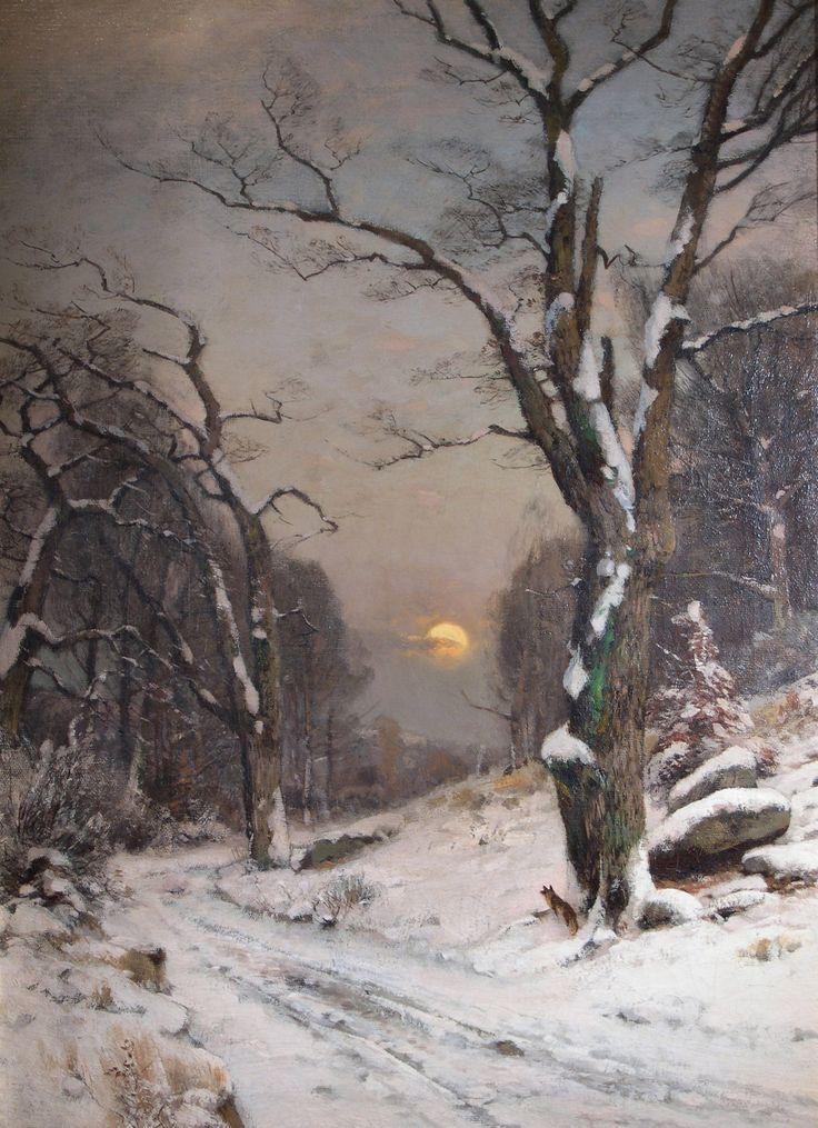 Wilhelm Schröter~untitled_-winter_landscape-_--1889