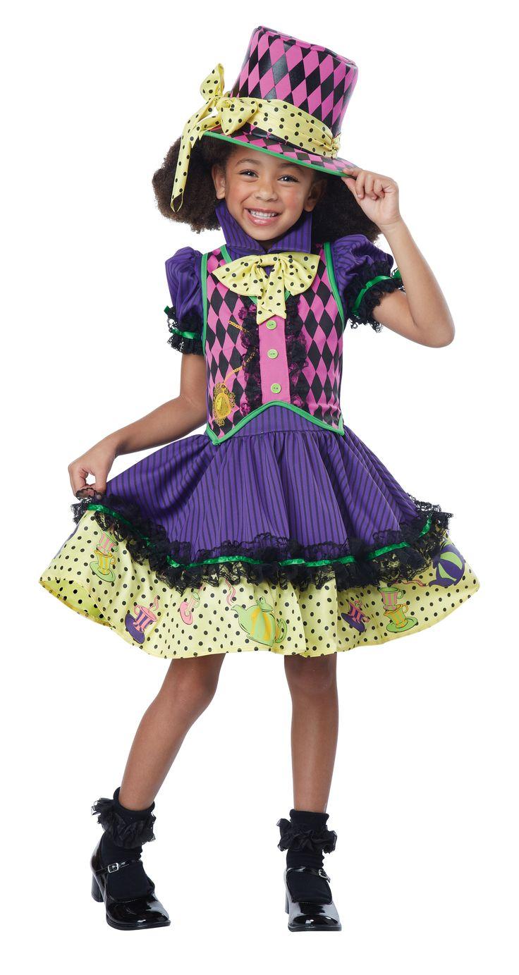 madhatter girls costume children costumesgirl costumescharacter costumeshalloween - Mad Hatter Halloween Costume For Kids
