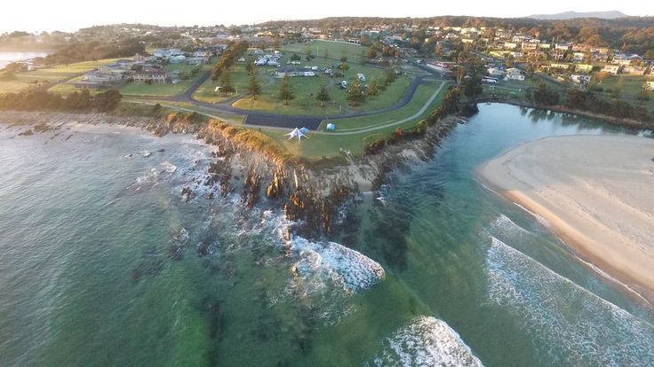 Aerial view of Dalmeny Campground NSW