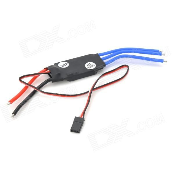 30A Brushless Speed Controller ESC for R/C Helicopter Quadcopter - Black. Quantity 1 Piece(s)/pack Color Black Material PCB + aluminum Compatible device Quadcopter Functions Driving motor, full protection Other Feature Output: continuous current 30A, short-time current 40A (not less than 10 seconds); Input: 5.6V~16.8V; BEC Output: linear regulator, 2A; Max rotate speed: 210,000rpm for 2 poles motor, 70,000rpm for 6 poles motor, 35,000rpm for 12 poles motor Packing List 1 x 30A Brushless…