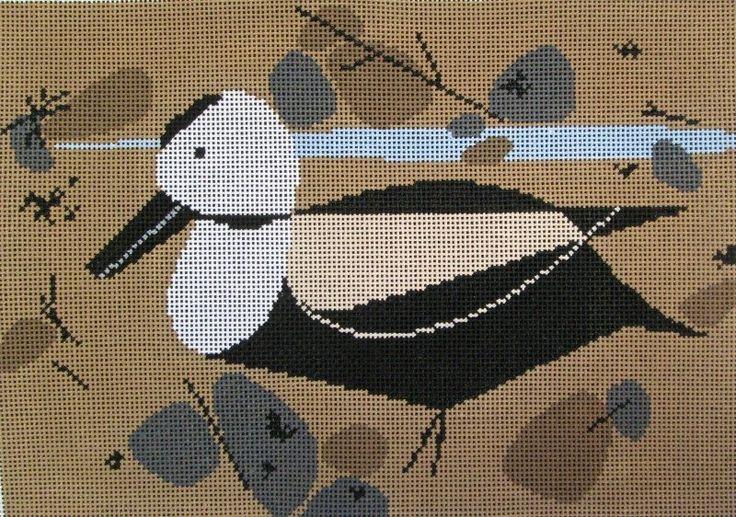 Charley Harper Needlepoint<BR>Labrador Duck (In Stock)