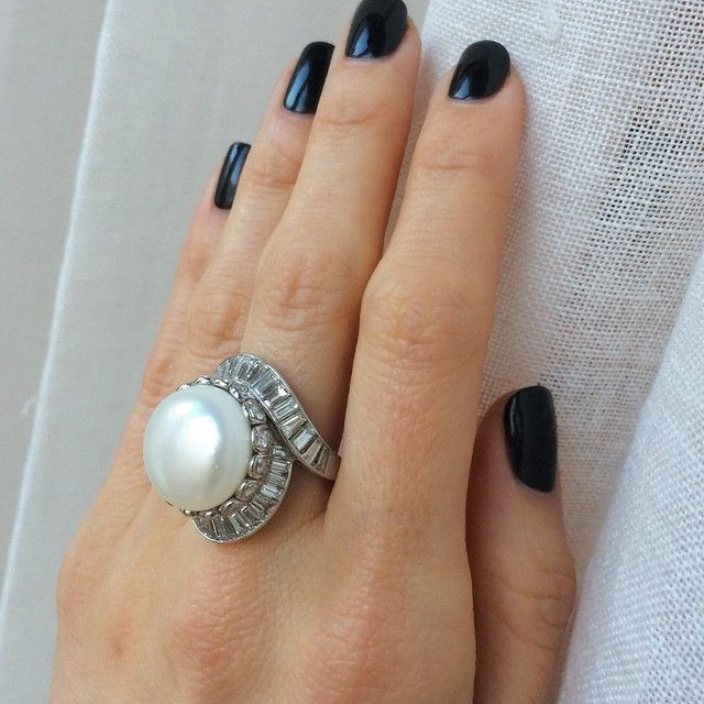 1131 best Pearl ring design ideas images on Pinterest | Pearl ring ...