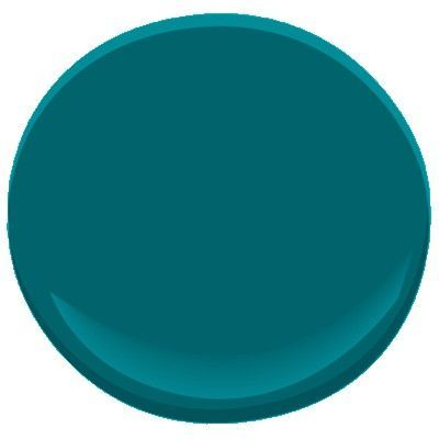 Benjamin Moore Jade Garden 2056-20 A deep teal with a hint of black, this very saturated shade captures the rich, glossy dark leaves of the ornamental Japanese jade plant.  To achieve this color, a deep base primer is required and multiple top coats may be required.
