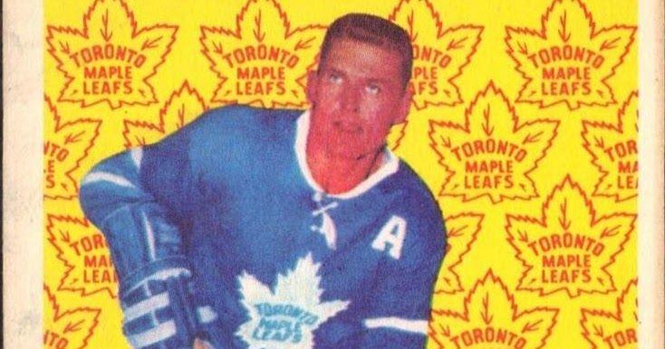 Allan Stanley - Toronto Maple Leafs. 1961-62 Parkhurst hockey card.