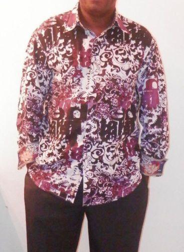 Robert-Graham-Multicolored-Print-W-embroidery-sport-shirt-Sz-XL