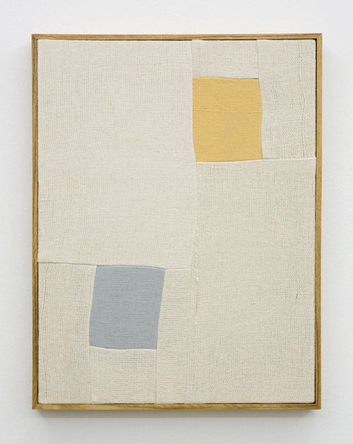 Ethan Cook Untitled Hand woven cotton canvas in artists frame, 2013