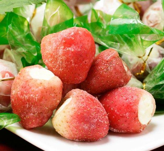 いちご をまるごと 練乳アイス! 『まるごと苺』 (30粒入)