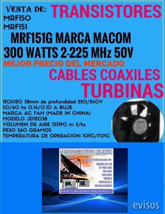 Venta de Transitores para equipos de Radios de Fm Mrf150 y Mrf151 Venta de Transitores para equipos de Radios de Fm Mrf150 y Mrf151-componentes Electrónicos para la ... http://carlos-casares.evisos.com.ar/venta-de-transitores-para-equipos-de-radios-de-fm-mrf150-y-mrf151-id-970717