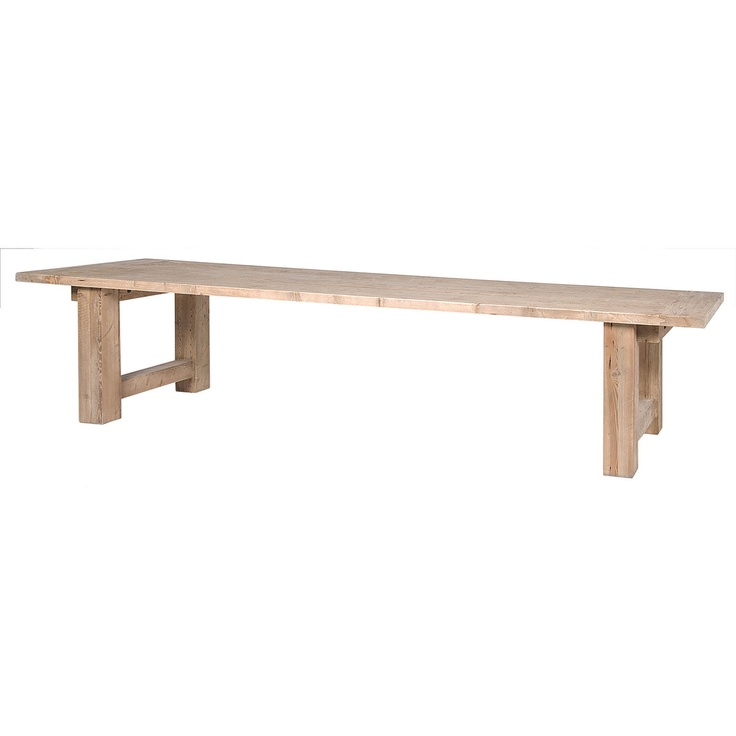 Nadelle 138 dining table reclaimed pine 138 w x 39 d x for Pine dining room table