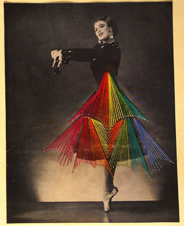 Artist Jose Romussi breathes new life into old photos by embroidering colorful thread onto skirts and dresses.