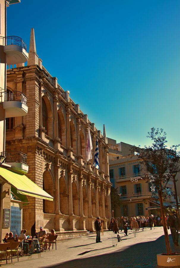 Town Hall, Heraklion, Crete, Greece