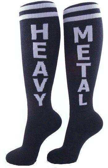 Heavy Metal Rock Socks - Leg Wear - Fast Girl Skates