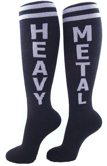 Heavy Metal Rock Socks - Leg Wear - Fast Girl Skates