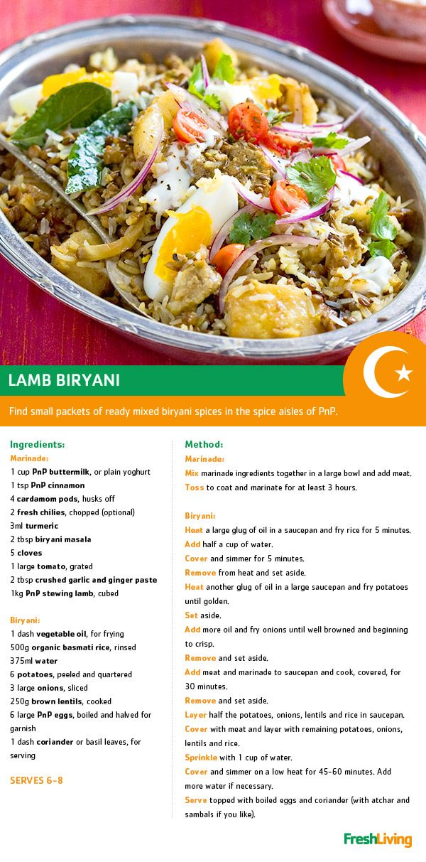 This #Ramadaan, experience the traditional flavours (and aromas) of Iftar with a classic lamb biryani. #dailydish #PnP #freshliving #picknpay