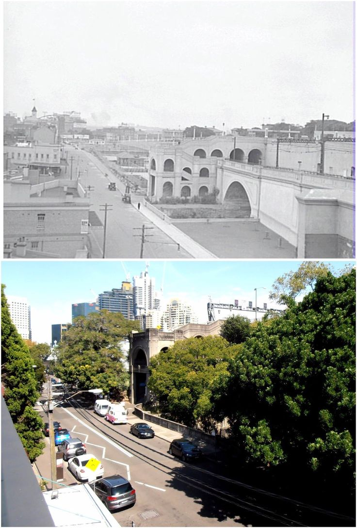 The Harbour Bridge stairs including the King George V memorial playground, The Rocks 1930s > 2016. [City of Sydney Archives > Kevin Sundgren. By Kevin Sundgren]