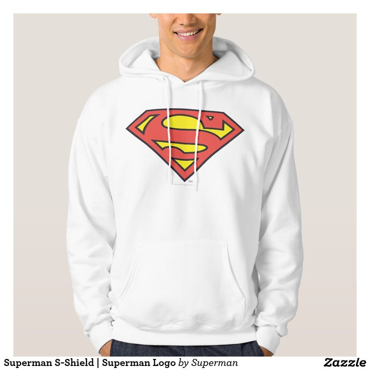 Superman S-Shield   Superman Logo Hooded Pullover. Regalos Padres, fathers gifts, #DiaDelPadre #FathersDay