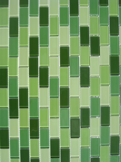 Details About Green Mosaic Subway Glass Tile Kitchen Backsplash